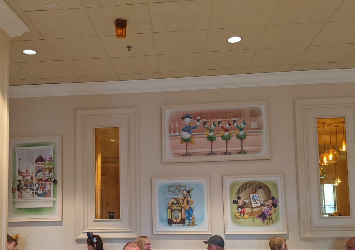 New decorations at beaches & cream restaurant at Walt Disney World Resort in orlando