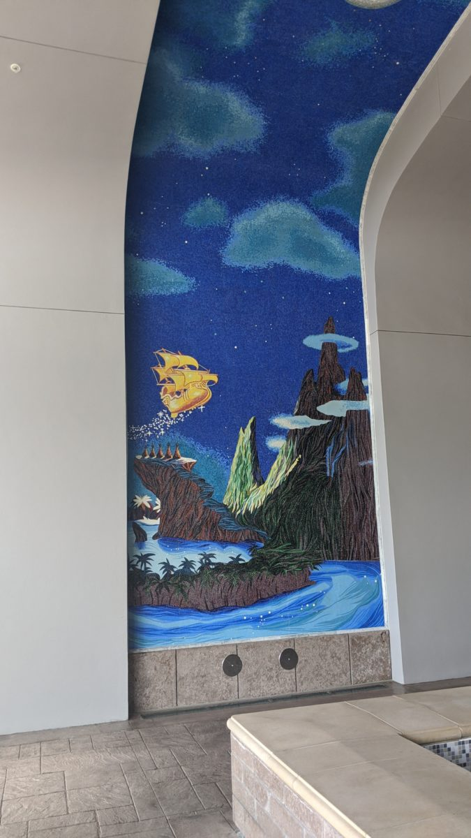 Peter Pan artwork on display outside Disney's Riviera Resort in Orlando, FL