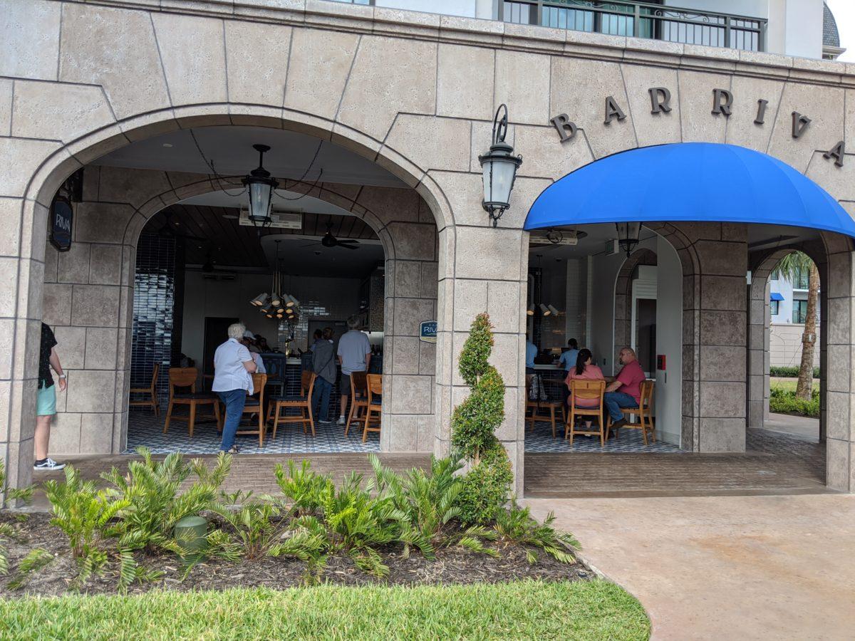 Eat European cuisine at Bar Riva, Disney's newest hotel, the Riviera Resort's poolside bar