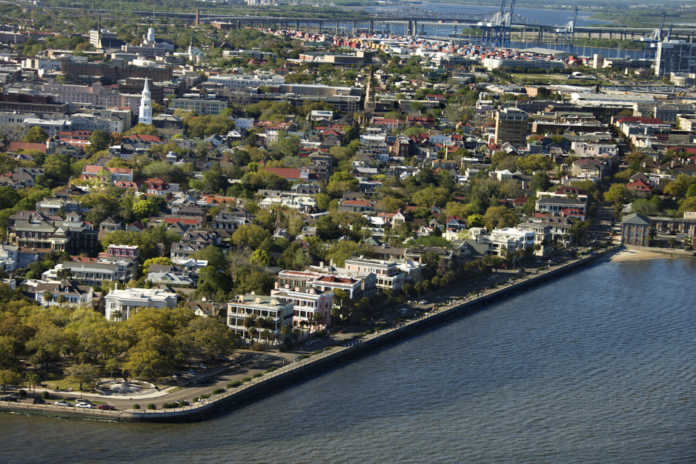 A picture of the Charleston, South Carolina harbor. Enjoy cruise from Hilton Head Island to there