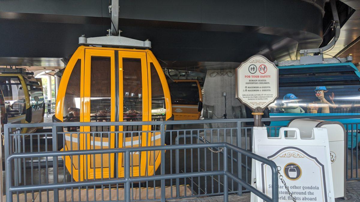 The Disney Skyliner Station at Disney's Riviera Resort in Orlando, Florida