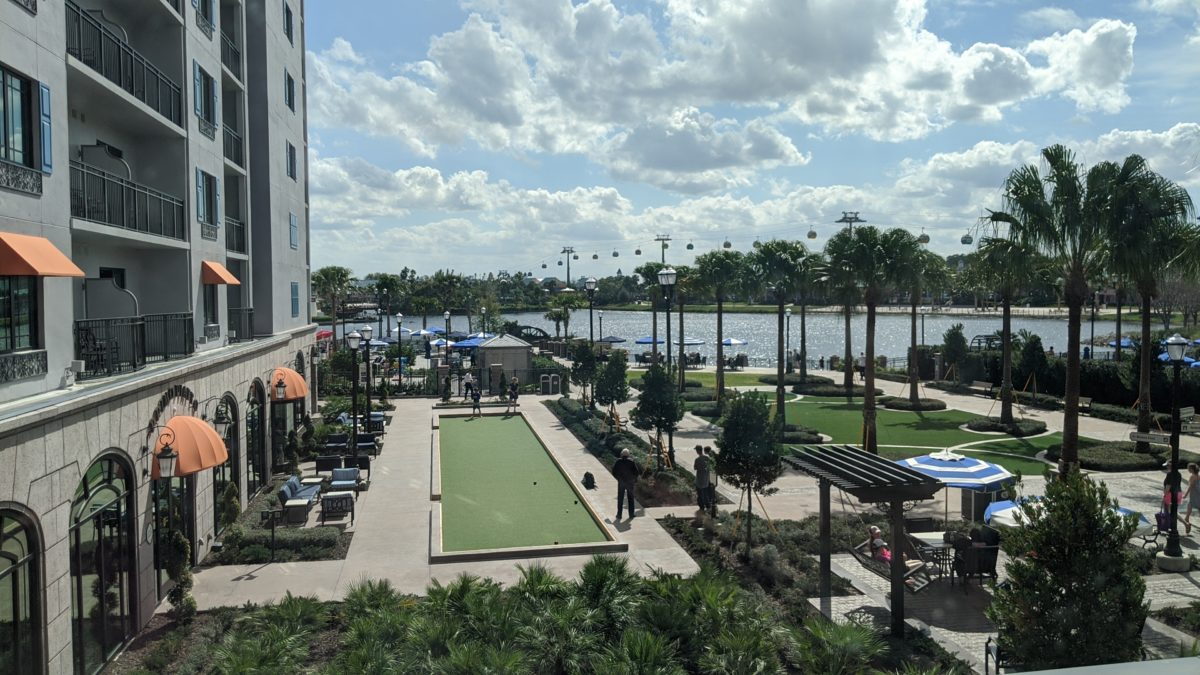A picture of Disney's Riviera Resort grounds at Walt Disney World in Florida