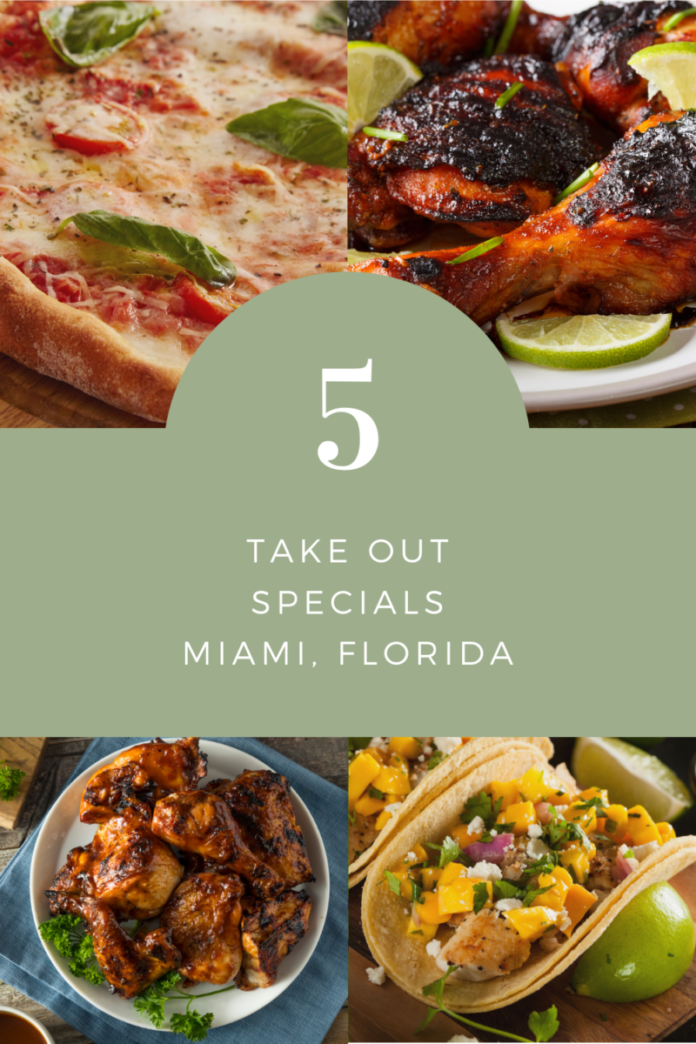 Up to 50% off takeout dinners in Miami, Florida area (Hollywood, Coral Gable, South Miami, etc.)