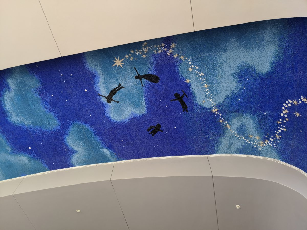 Peter Pan mural at Disney World's newest hotel, the Riviera