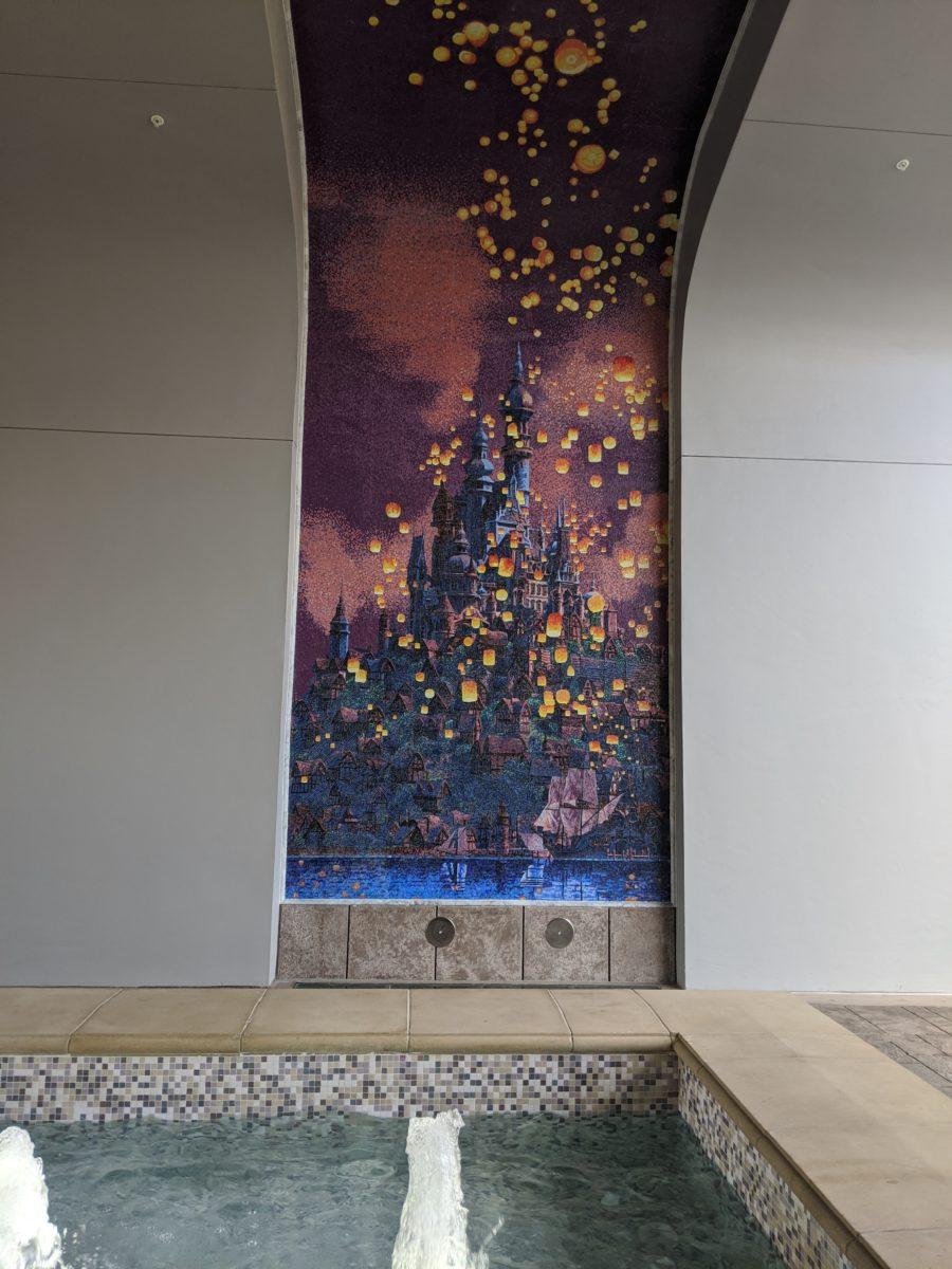 See murals of popular Disney movies at the Riviera Resort at Walt Disney World