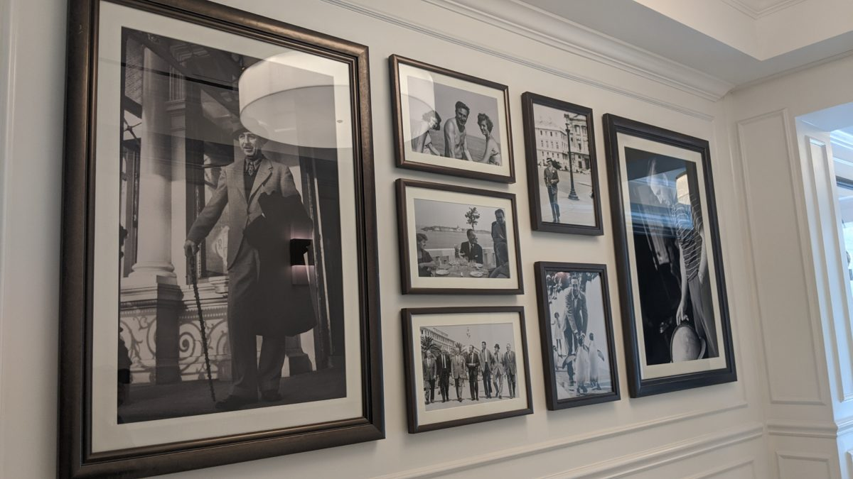 Disney's Riviera Resort in Orlando, Florida has pictures of Walt Disney in Europe