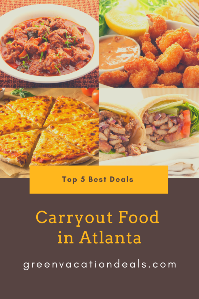 Discount prices up to 40% off Atlanta take out food