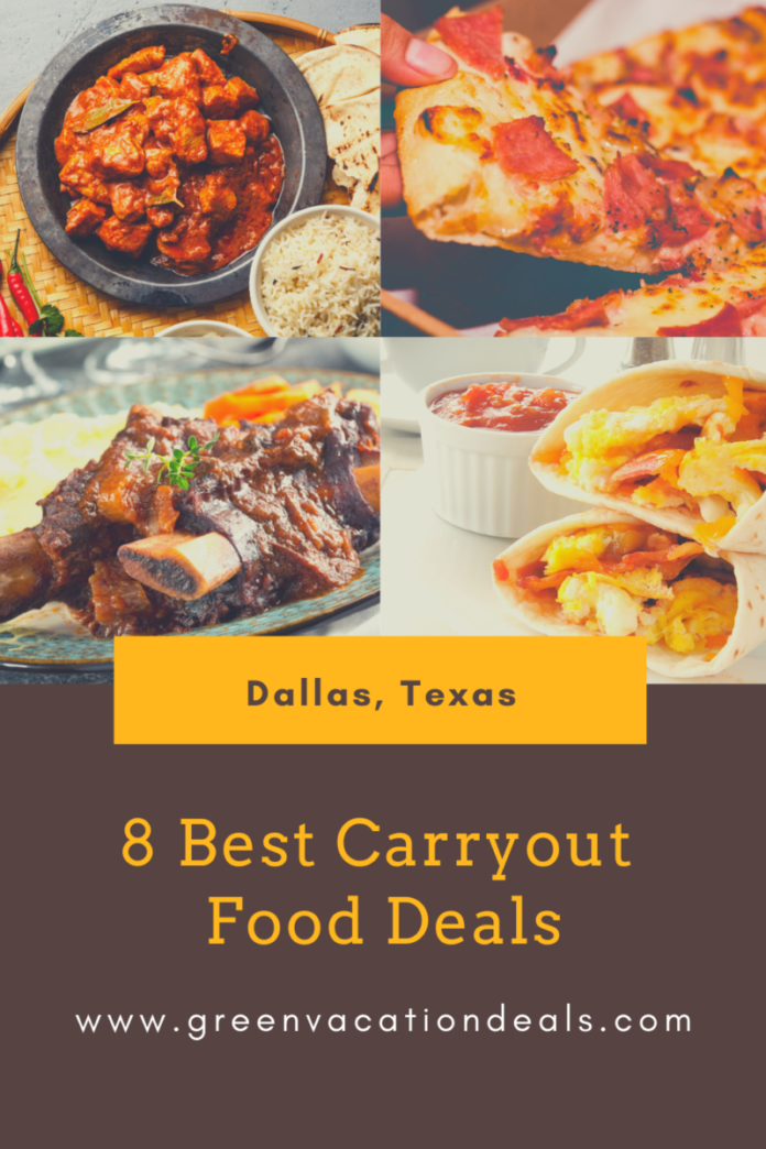 Get great deals on takeout food in Dallas, Texas area: Plano, Arlington, Frisco, etc.