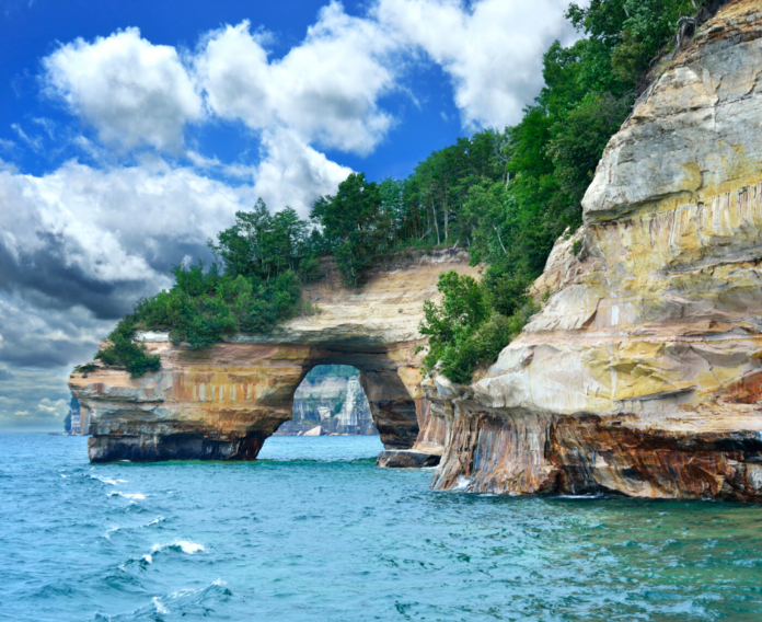 Stretching for about 15 miles along Lake Superior are the incredibly beautiful Pictured Rocks. Save money kayaking there