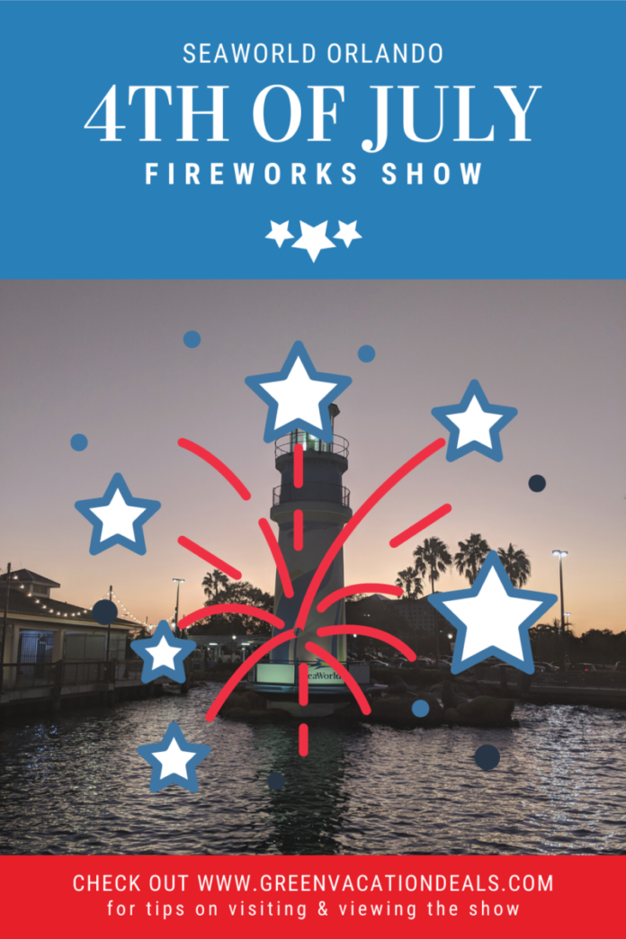 See the brand new 4th of July fireworks show in Orlando, Florida at SeaWorld theme park