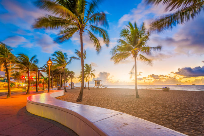 Fort Lauderdale Beach, Florida, USA at dawn. Find out how to win a free vacation there.