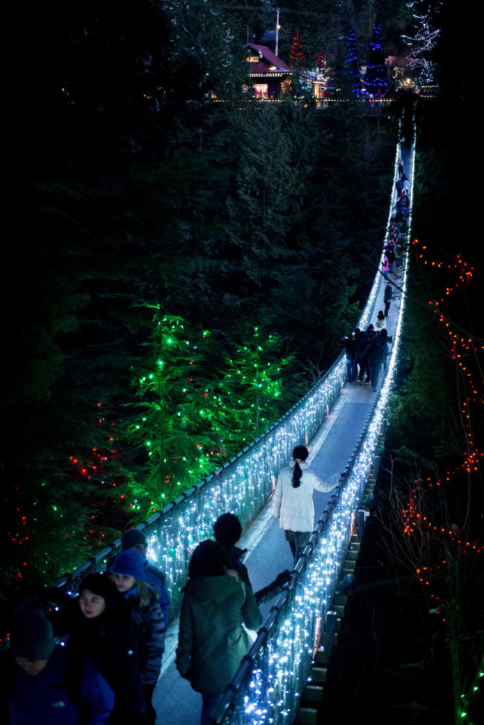 Discount voucher for Vancouver Capilano Canyon light Christmas Event
