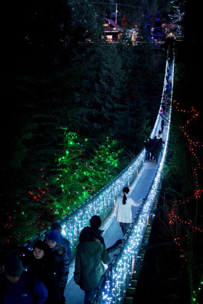 Discount voucher for Vancouver Capilano Canyon light Christmas Event