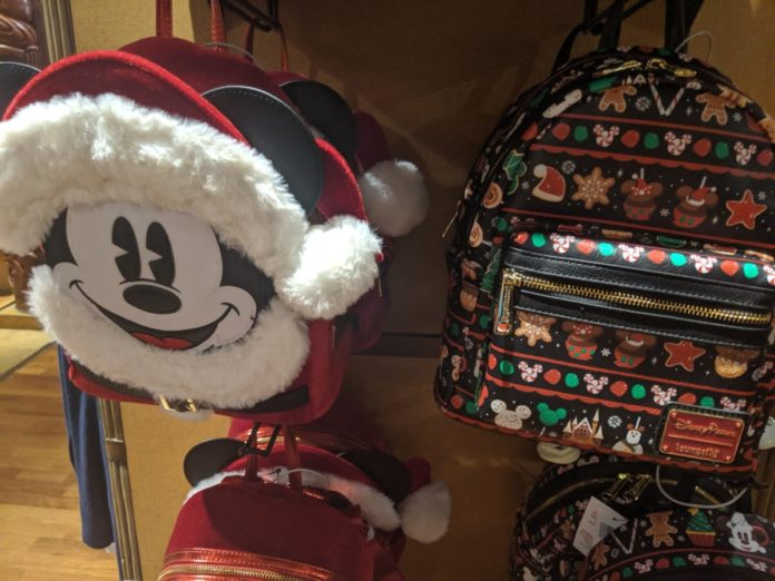 Best Disney Christmas backpacks themed to Mickey Mouse, Nightmare Before Christmas, parks, etc.