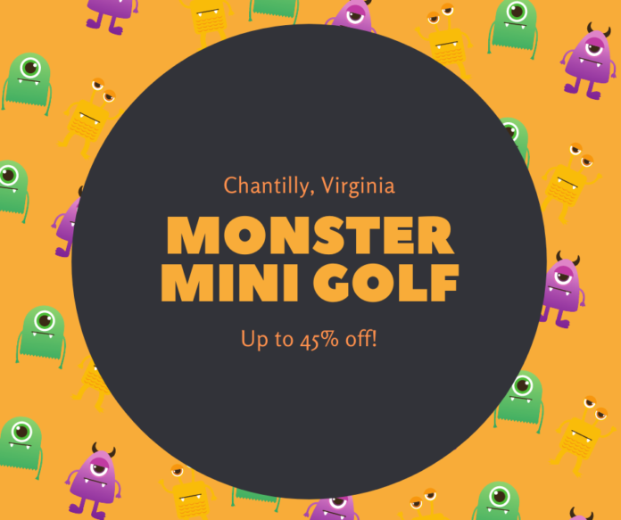 Free rounds of putt putt golf at Monster Mini Golf in Northern Virginia, Washington DC area