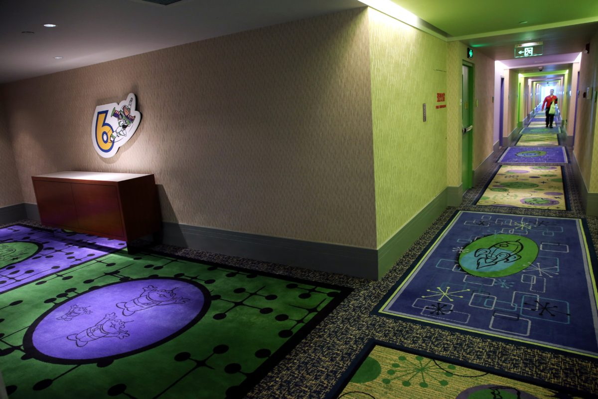 Toy Story Hotel is not as luxurious at its Shanghai Disneyland Hotel partner