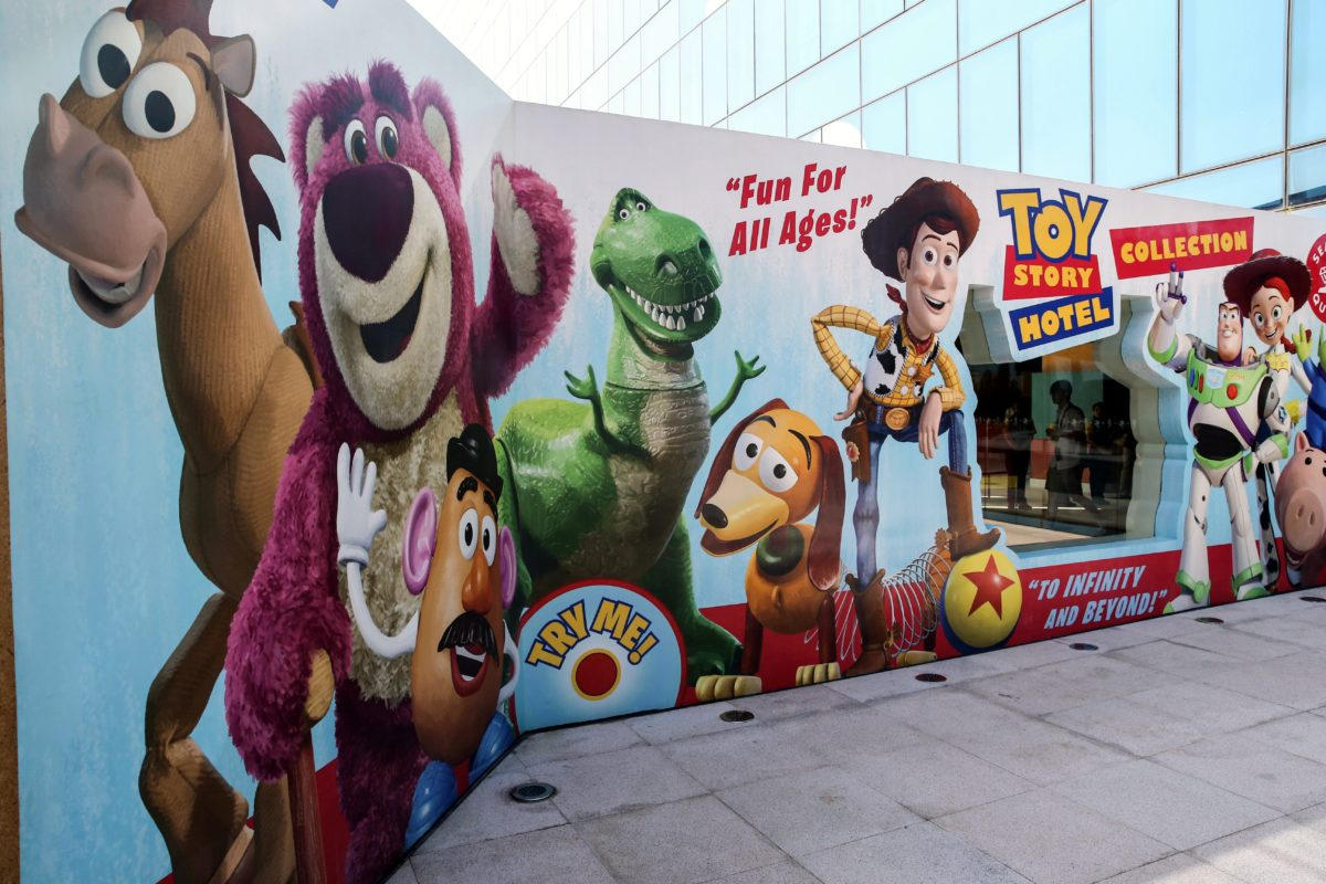 Shanghai Disneyland's budget hotel is completely themed to Toy Stories movies