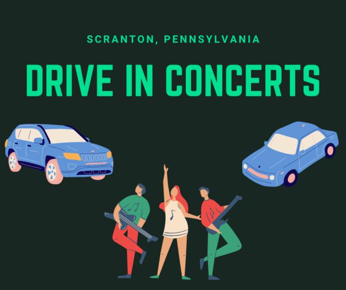 Scranton, PA drive in movie theater music concerts