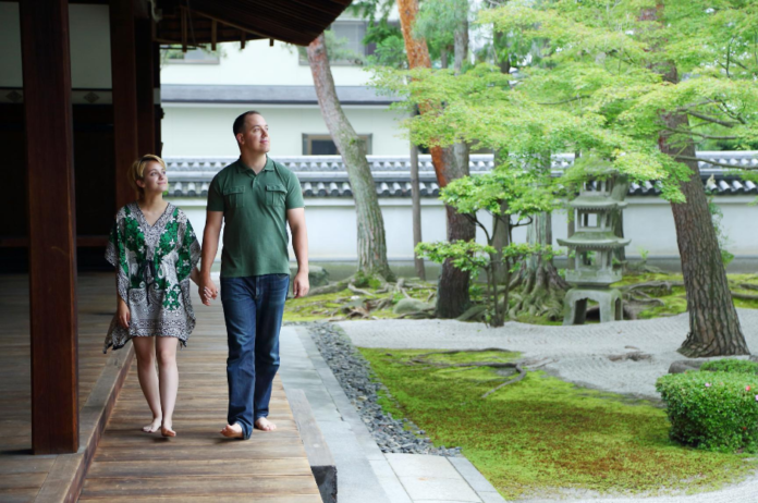 What do for a romantic getaway, honeymoon in Kyoto, Japan