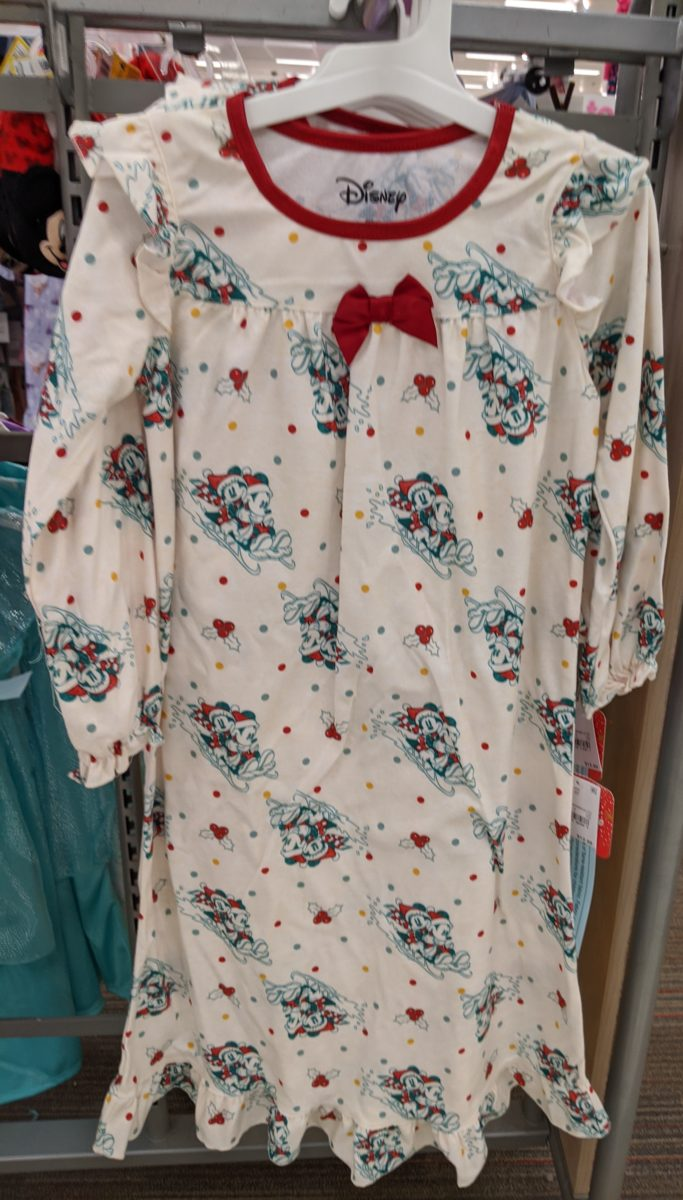 Best Christmas Disney nightgowns themed to Minnie Mouse, Mickey, Frozen, princesses, Tinker Bell, etc.