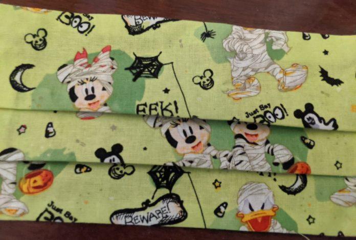 Disney Halloween face masks themed to Star Wars, Hocus Pocus, Nightmare Before Christmas, Mickey, Minnie, etc.