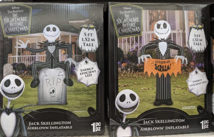 Halloween decor ideas: Disney inflatables themed to Mickey, Minnie, Nightmare Before Chirstmas, Star Wars, etc.