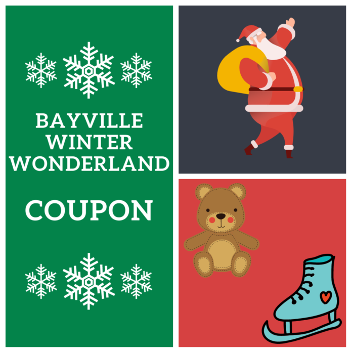New York City area Bayville Christmas event discount ticket includes photos with Santa