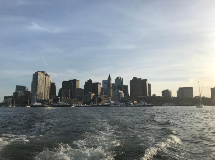 Take a three-course Boston cruise see islands, skyline, etc.