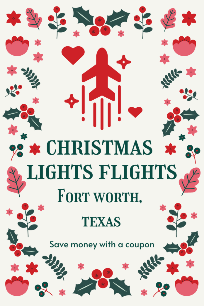 Holiday Lights Flights in Dallas, TX area discount ticket see lights from a WWII C-47