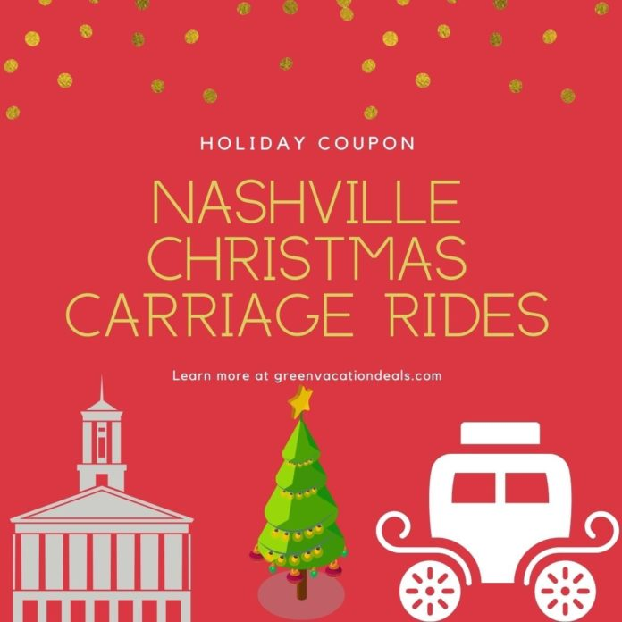 Discount ticket for Sugar Creek Carriages Private Narrated Christmas Lights Ride in Nashville, TN