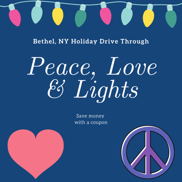 Discount price for Peace, Love & Lights Christmas drive through in Bethel, New York