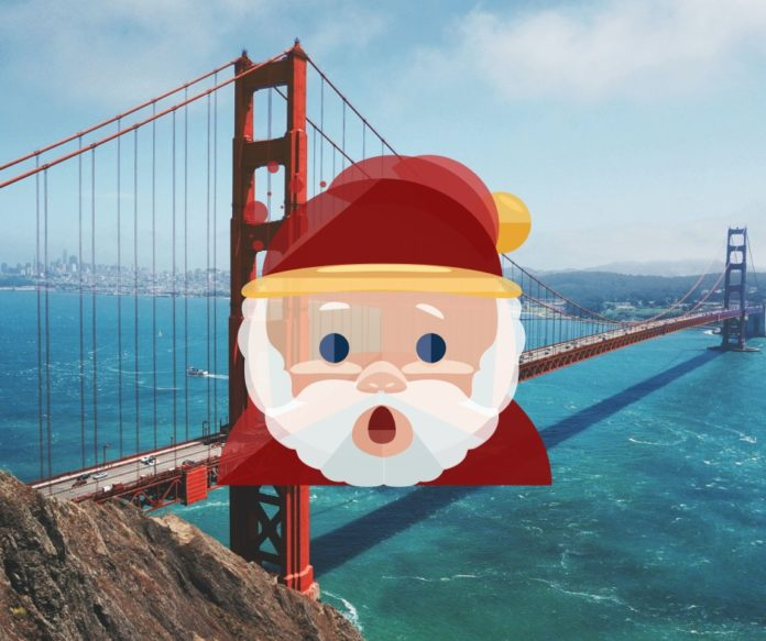 Christmas tour through San Francisco, California on segways