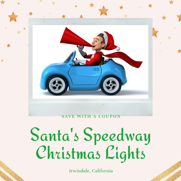 Discounted Ticket or Package at Santa's Speedway Christmas Lights Drive-Thru in Irwindale, CA