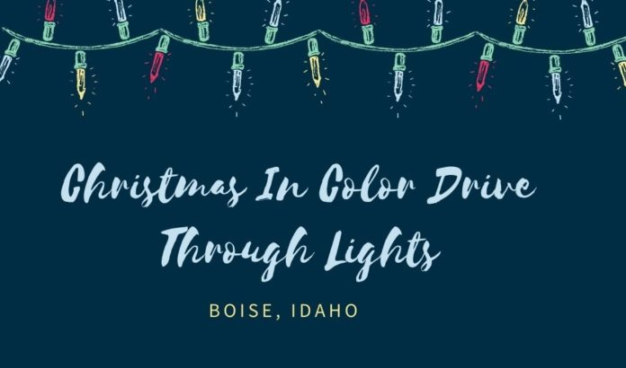 Holiday, Christmas lights drive through event in Garden City, ID