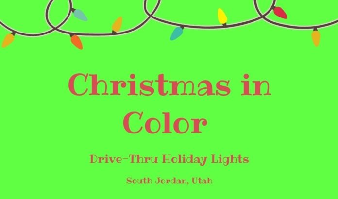 Christmas in Color Drive-Thru Holiday Lights Event SLC Utah Area Discount ticket