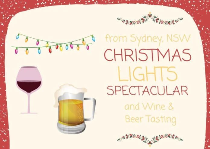 Discount voucher for ticket to transportation from Sydney to Hunter Valley for beer & wine tasting, Christmas lights