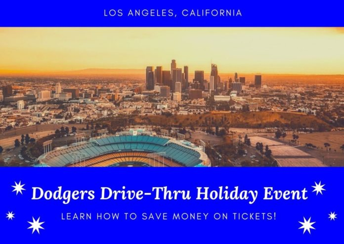 Cheap ticket for the Christmas drive through LA Dodgers event