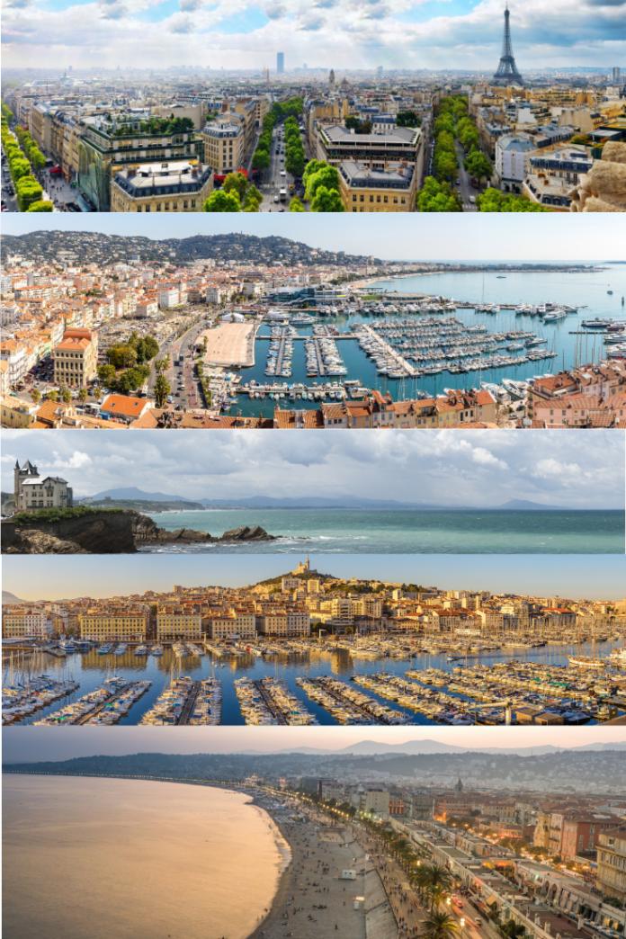 Best France luxury hotels in Paris, Cannes, Lyon, Bordeaux, Chessy, Toulouse, etc.