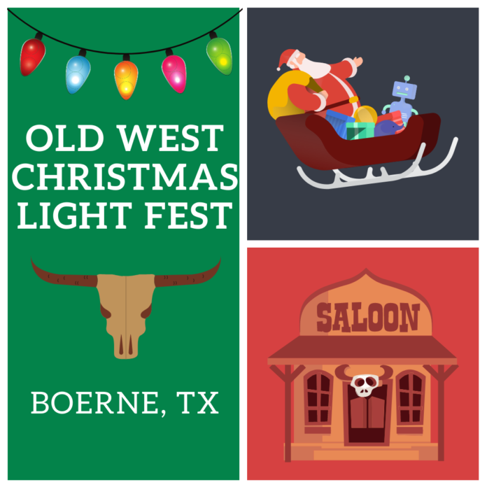 Old West Christmas Light Fest is a great family friendly holiday event in San Antonio, Texas