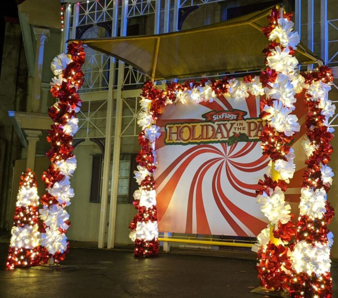 Cheap tickets to Holiday in the Park Six Flags Magic Mountain Drive Through