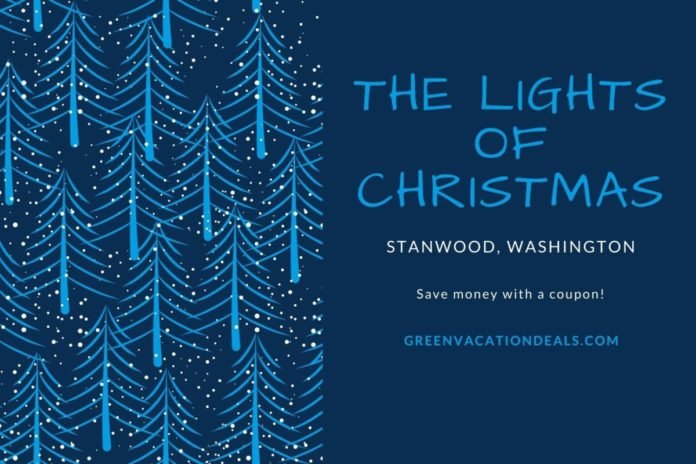 Discounted price for Christmas lights drive through event in Stanwood, WA near Seattle & Bellingham