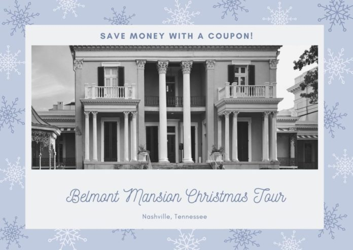 Nashville, Tennessee Belmont Mansion Christmas tours discount price
