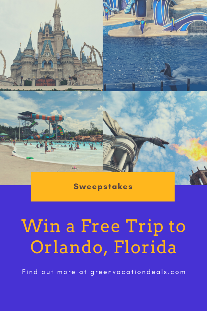 How to win a free vacation for 4 to Orlando, Florida
