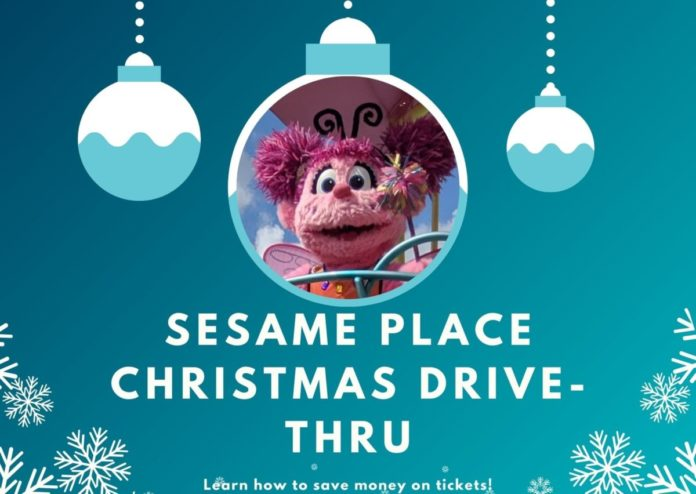 New for 2020 Christmas Lights Drive Thru with Sesame Street parade at Sesame Place in Langhorne, PA
