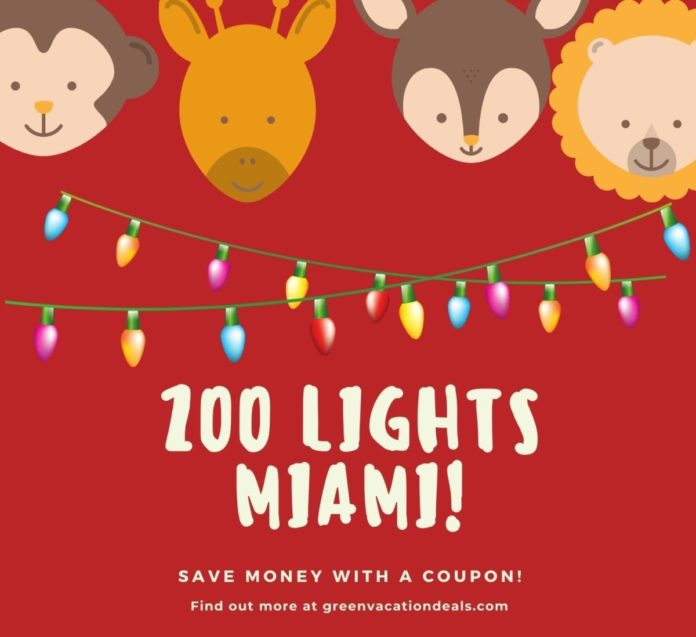 Christmas lights at Miami Zoo discount price