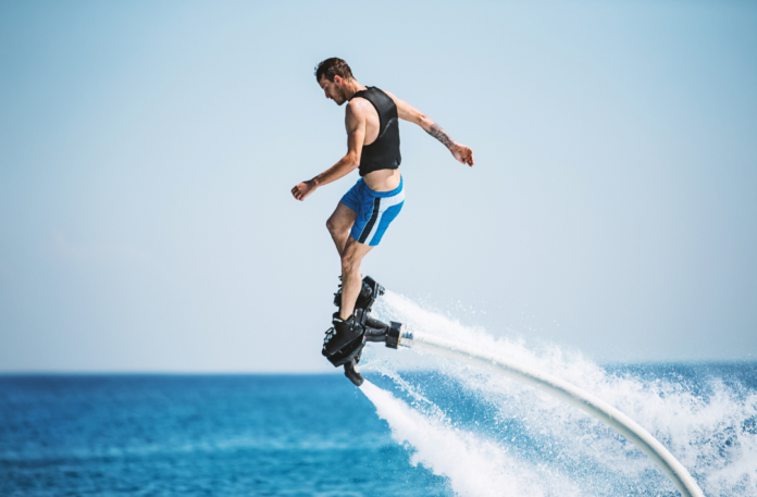 Discounted price for 30-Minute Beginner Flyboard Session with Optional Video and Photo Package at Miami Watersports