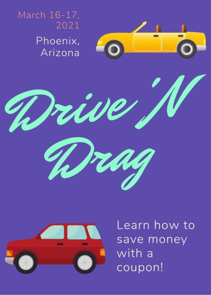 Discounted car general admission to RuPaul Drag Race live show drive in event in Chandler, Arizona