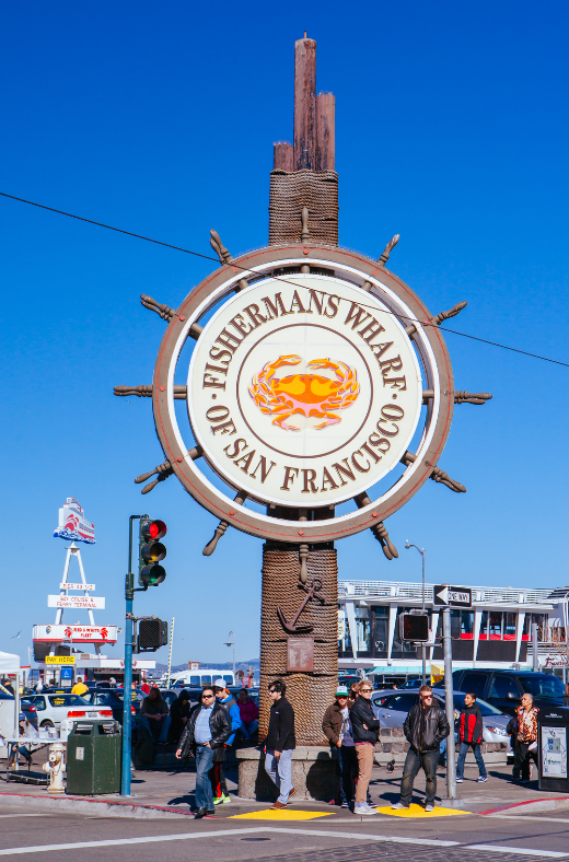 Discounted price for San Francisco walking tour visit Ghirardelli Square, Fisherman's Wharf, and Pier 39.