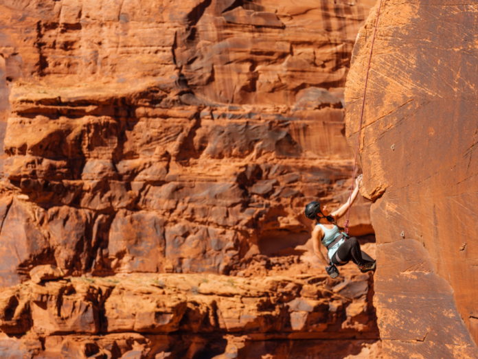 Discount price for Mountain Madness rock climbing in Utah