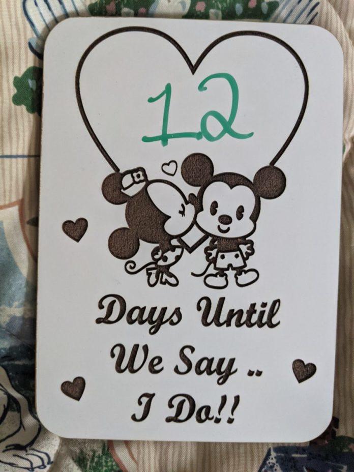 Best Disney wedding countdown blocks, magnets, customizable